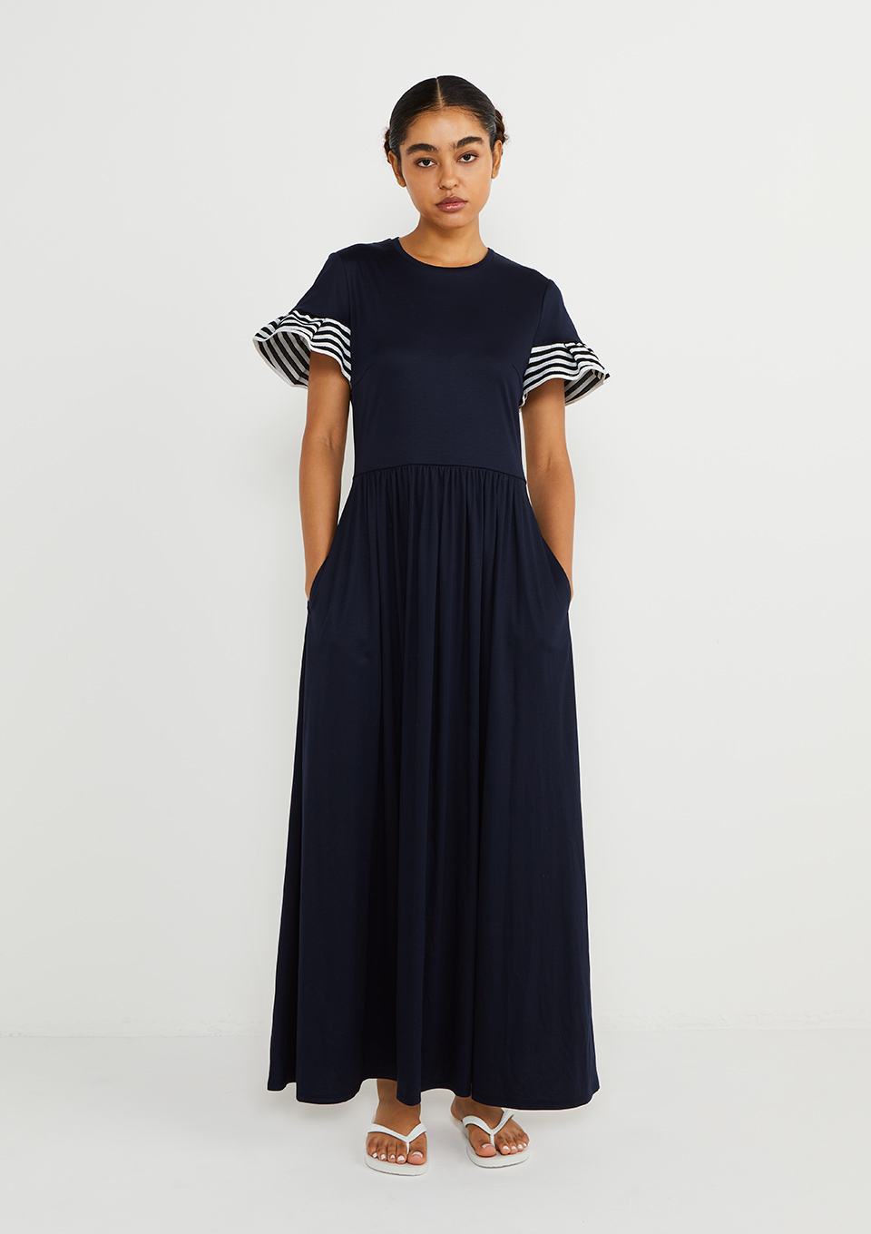 RUFFLED MAXI DRESS