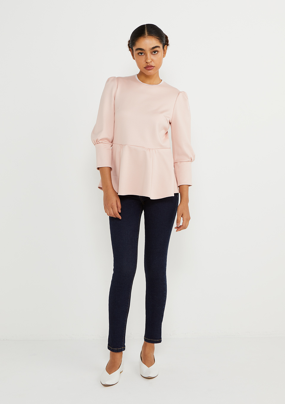 SWEAT PEPLUM TOP
