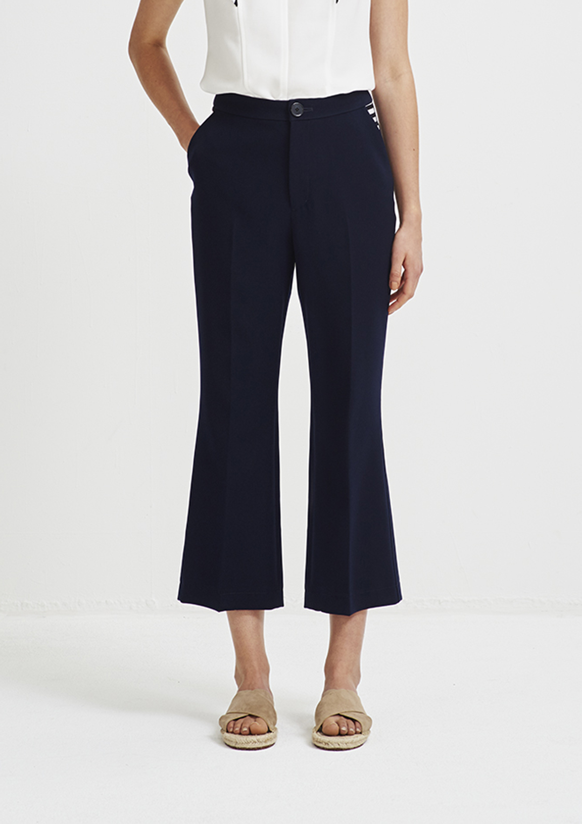 TWILL FLARED PANTS
