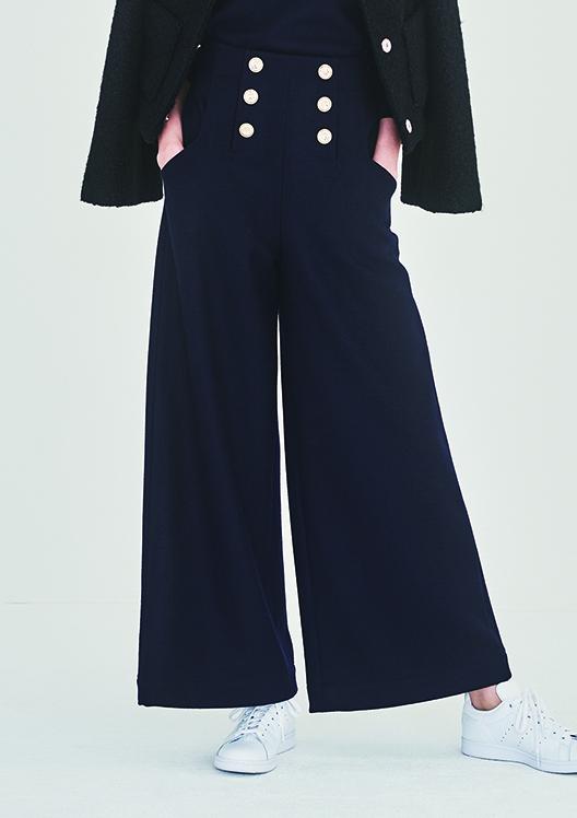 MELTON JERSEY WIDE PANTS(36)