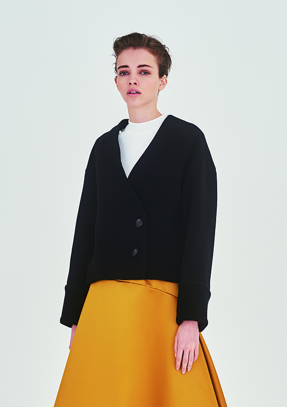 WOOL CASHMERE SHORT COAT