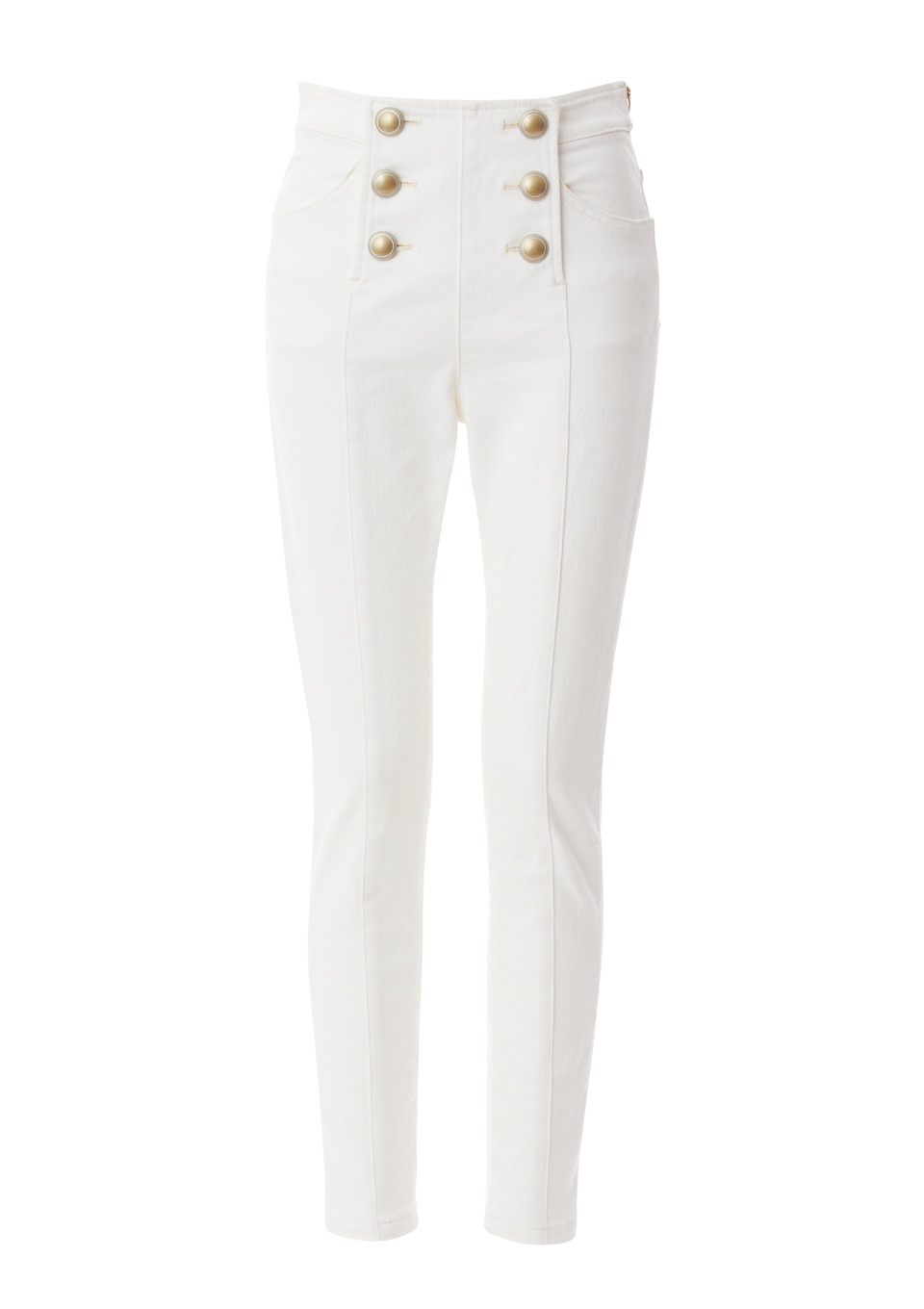 WHITE SAILOR DENIM PANTS