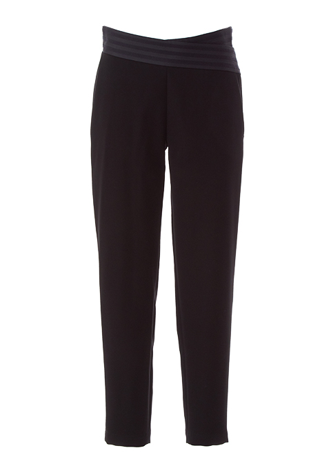 BLACK TAPERED PANTS(34)