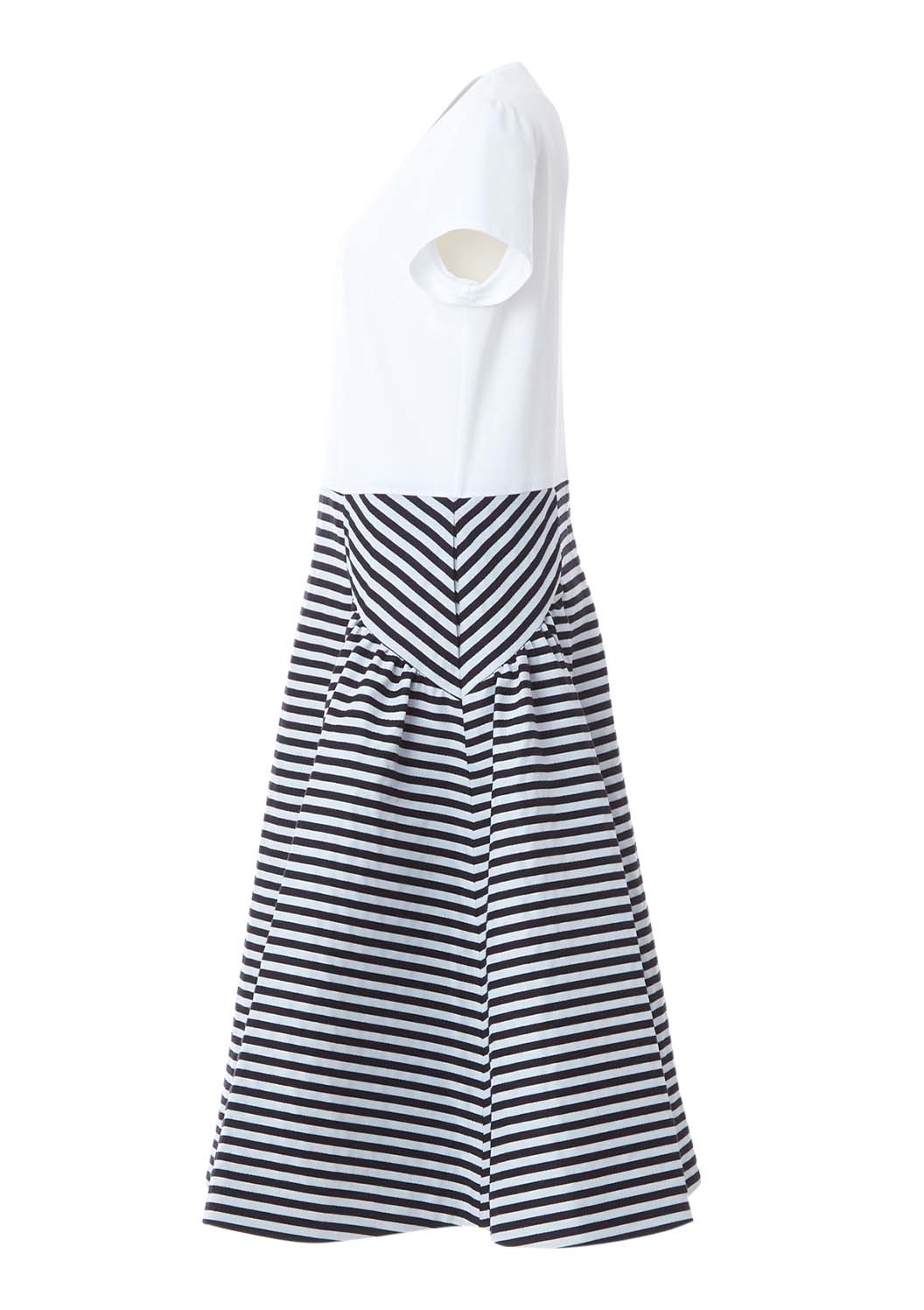 BORDER TEE DRESS