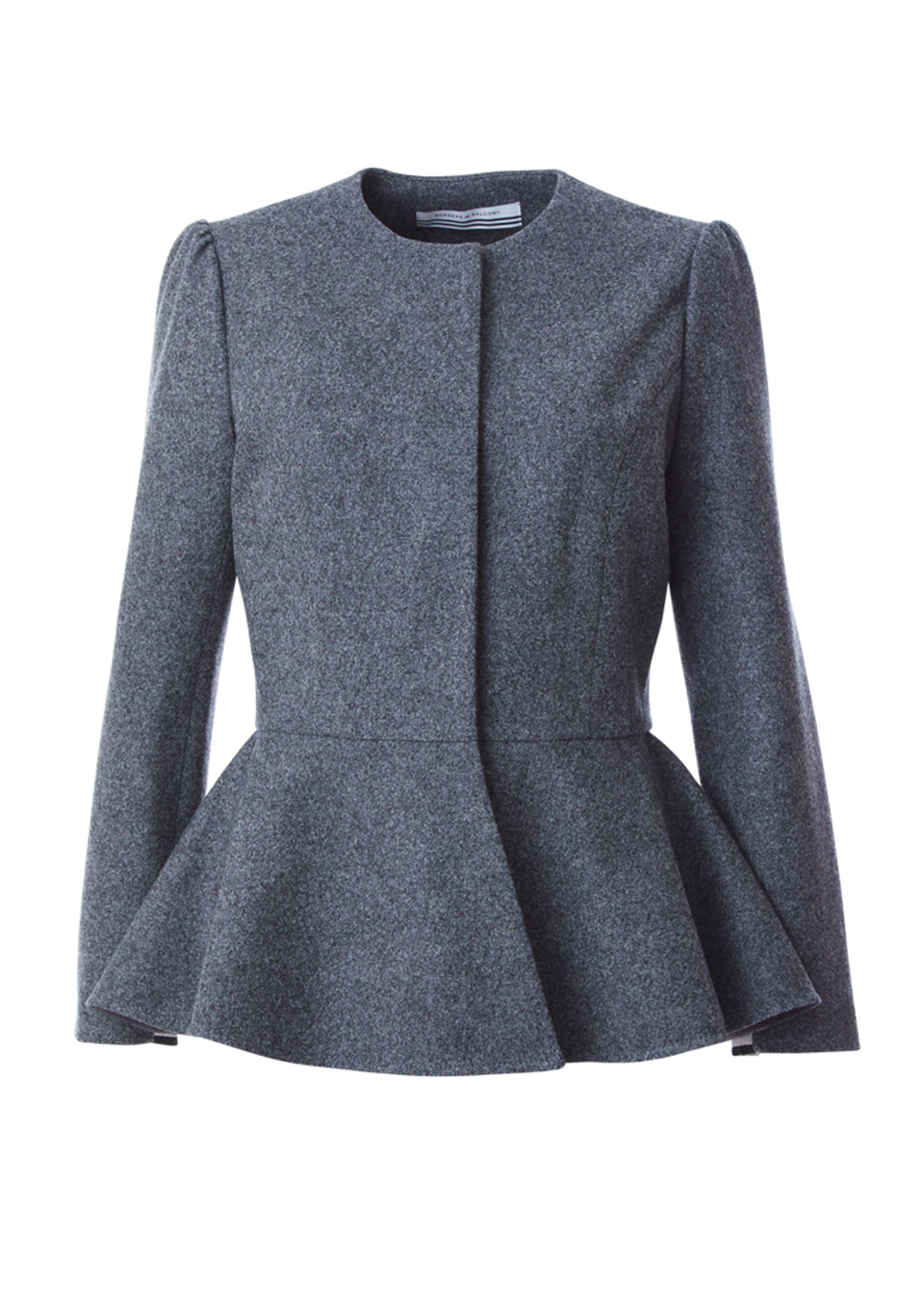 WOOL PEPLUM JACKET(36)