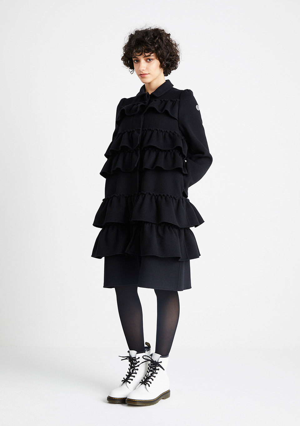 RUFFLED COAT