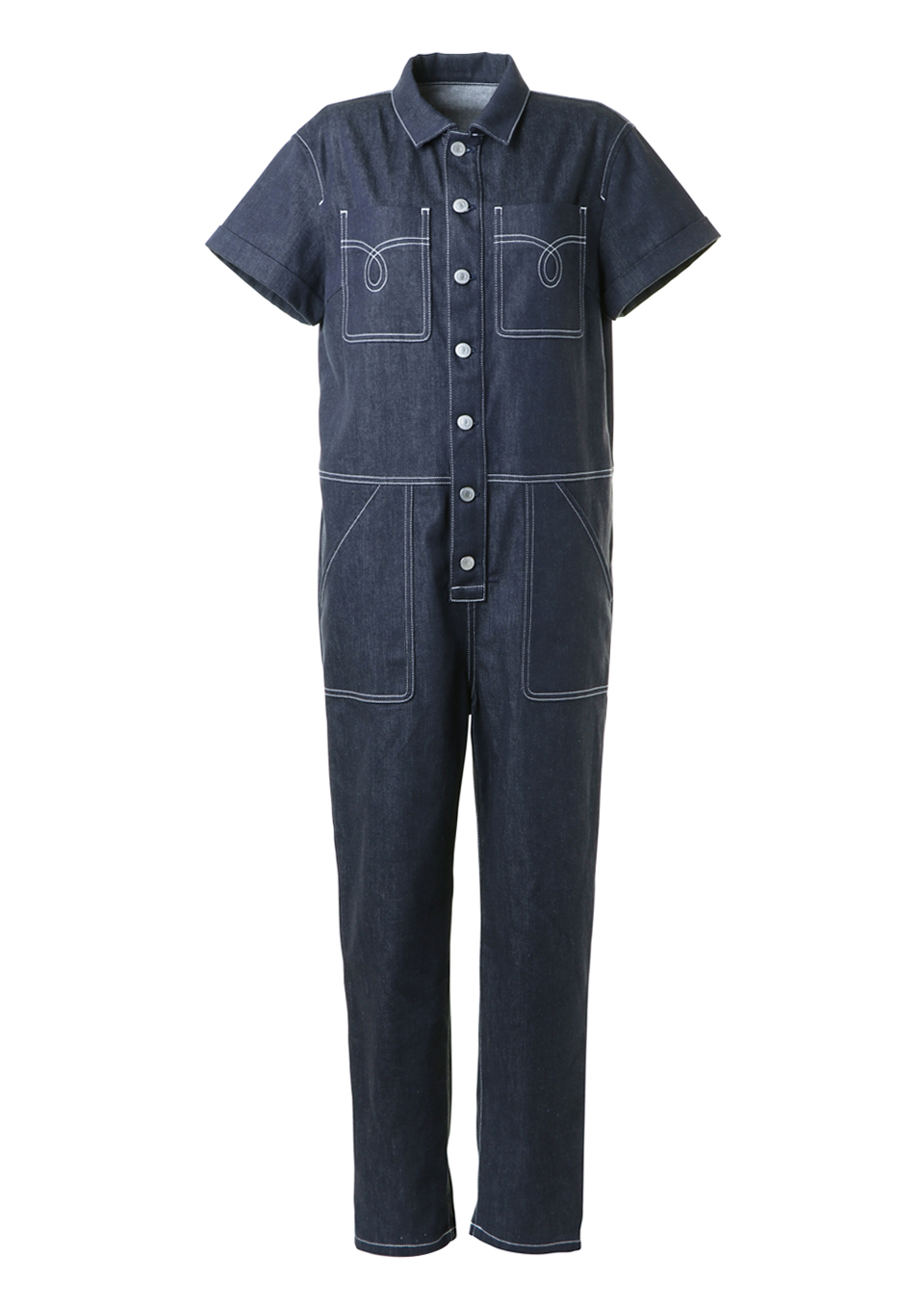 DENIM JUMP-SUIT