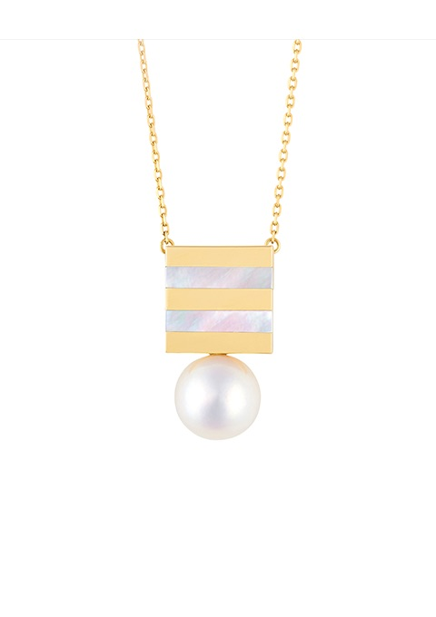 BORDER PEARL NECKLACE