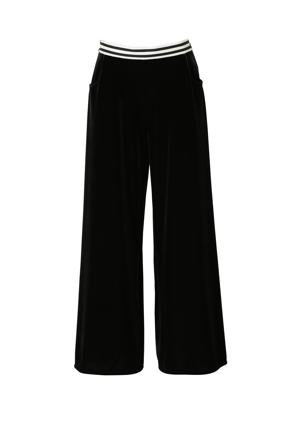 VELOURS WIDE PANTS
